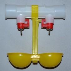 Поилка двойная на трубу 25 мм 1080
